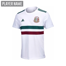 Adidas Youth Mexico Away Jersey '18-'19 (White/Collegiate Green/Burgundy)