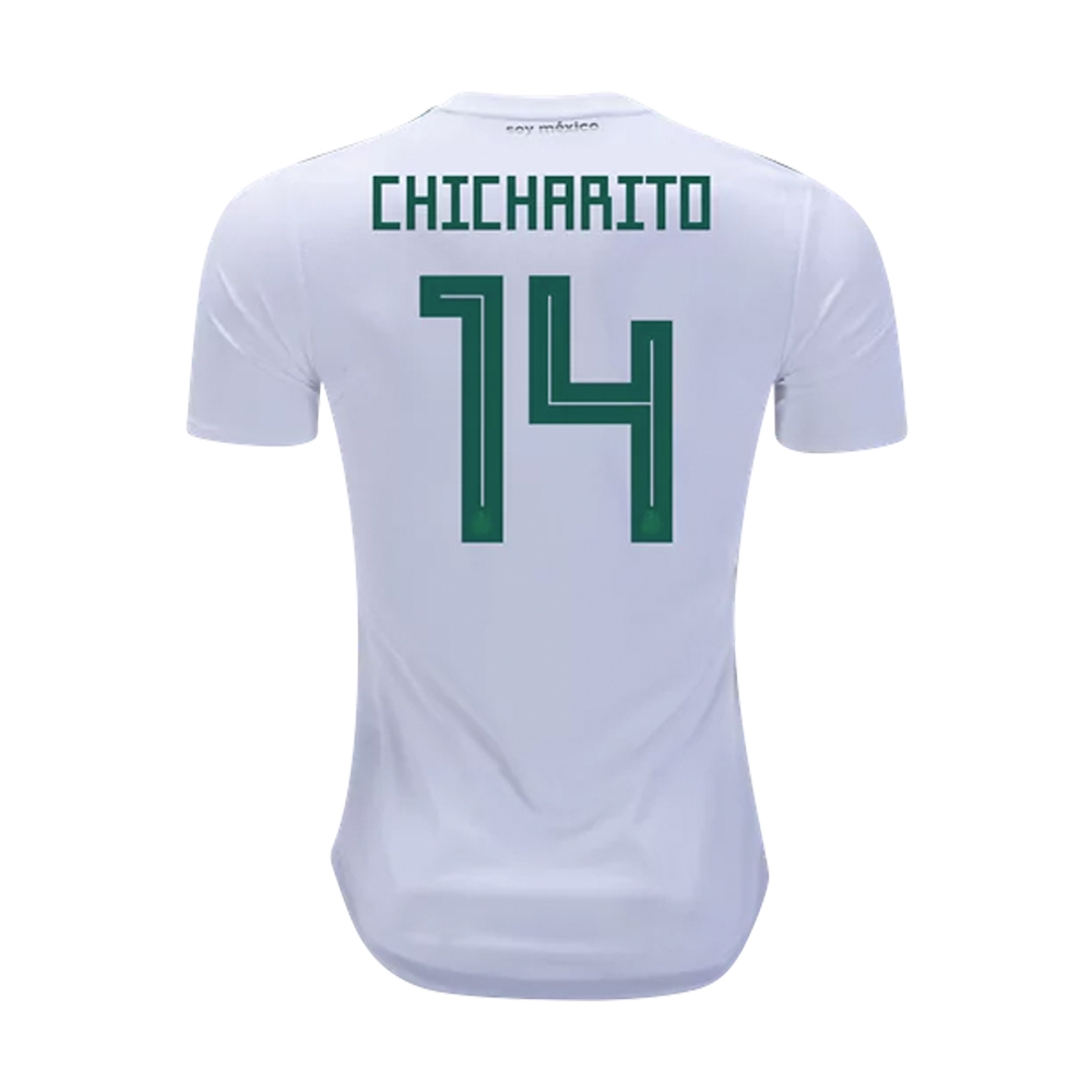 01824ce8259 Adidas Youth Mexico 'CHICHARITO 14' Away Jersey '18-'19 (White ...