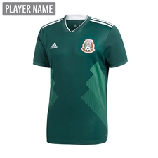 Adidas Youth Mexico Home Jersey '18-'19 (Collegiate Green/White)