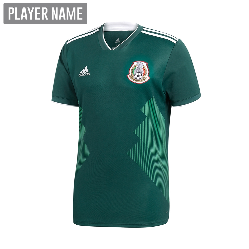 f2904b08031 Adidas Youth Mexico Home Jersey '18-'19 (Collegiate Green/White ...