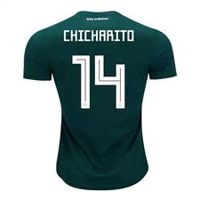 Adidas Youth Mexico 'CHICHARITO 14' Home Jersey '18-'19 (Collegiate Green/White)