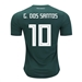 Adidas Youth Mexico 'G. DOS SANTOS 10' Home Jersey '18-'19 (Collegiate Green/White)