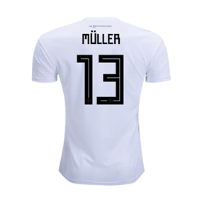 Adidas Youth Germany 'MULLER 13' Home Jersey '18-'19 (White/Black)