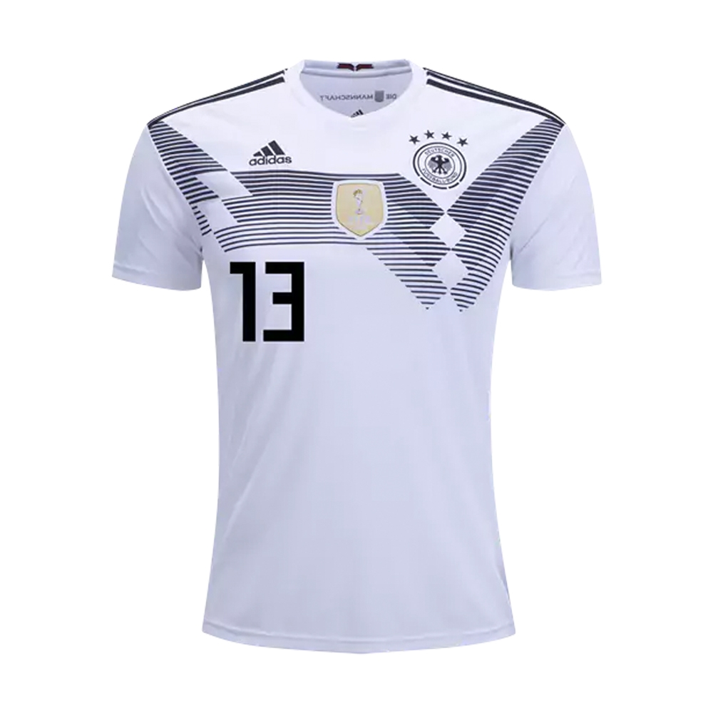 9f3d26452e4 Adidas Youth Germany 'MULLER 13' Home Jersey '18-'19 (White/Black ...