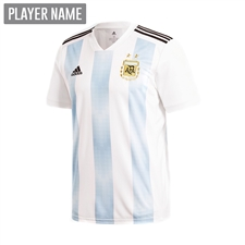 Adidas Youth Argentina Home Jersey '18-'19 (White/Clear Blue/Black)