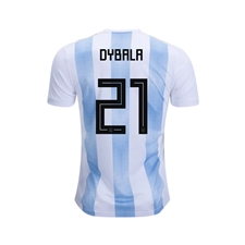 Adidas Youth Argentina 'DYBALA 21' Home Jersey '18-'19 (White/Clear Blue/Black)