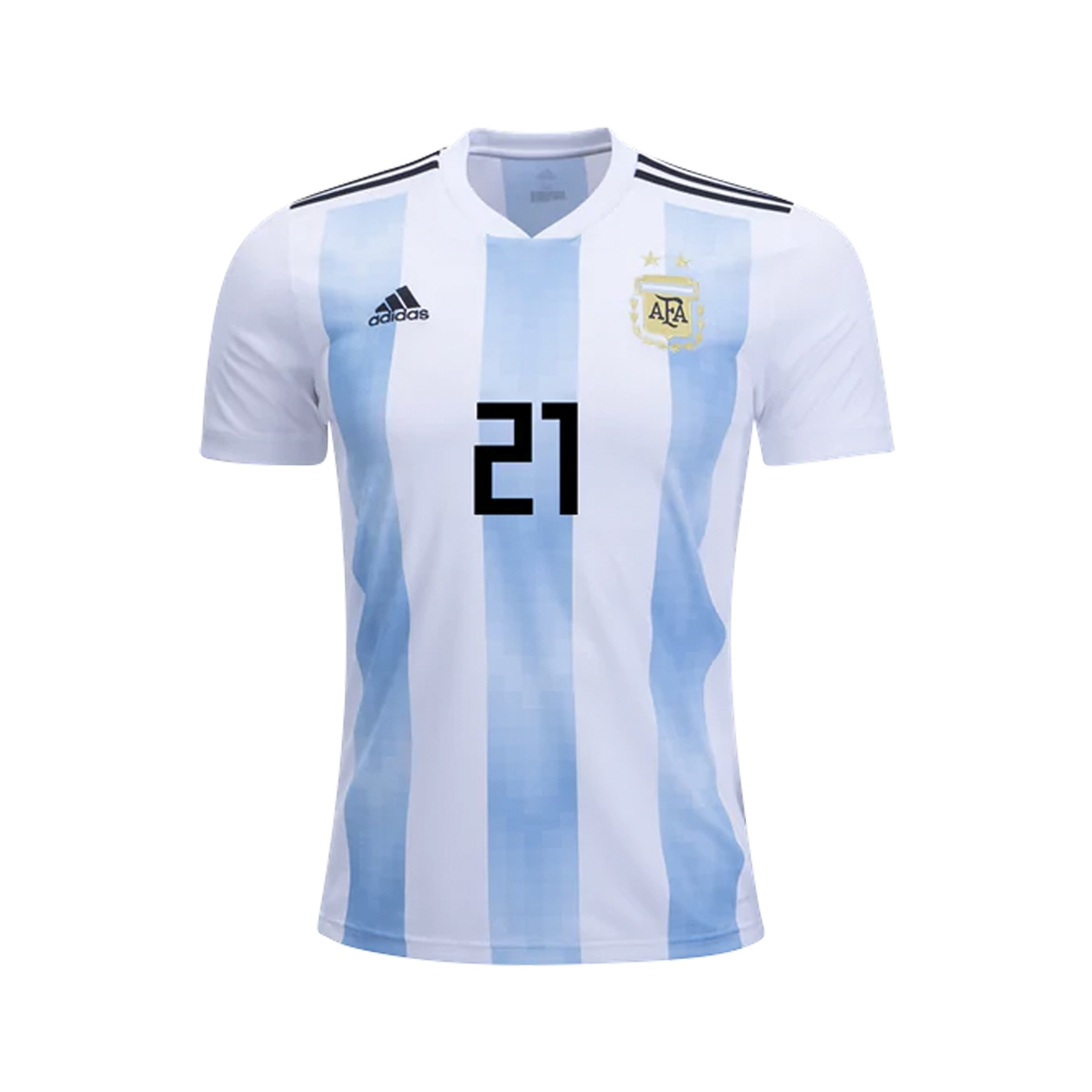 pretty nice cb944 ed4c1 Adidas Youth Argentina 'DYBALA 21' Home Jersey '18-'19 (White/Clear  Blue/Black)