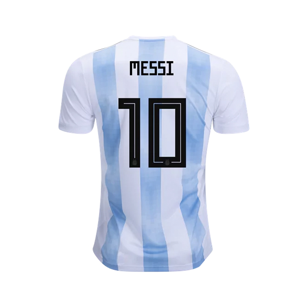 bae96eb80 Adidas Youth Argentina  MESSI 10  Home Jersey  18- 19 (White Clear ...