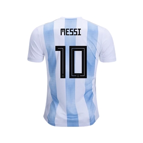 Adidas Youth Argentina 'MESSI 10' Home Jersey '18-'19 (White/Clear Blue/Black)