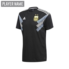 Adidas Youth Argentina Away Jersey '18-'19 (Black/Clear Blue/White)