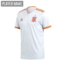 Adidas Youth Spain Away Jersey '18-'19 (Halo Blue/Bright Red)