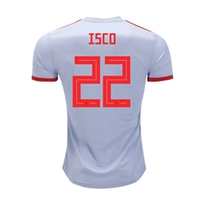 Adidas Youth Spain 'ISCO 22' Away Jersey '18-'19 (Halo Blue/Bright Red)