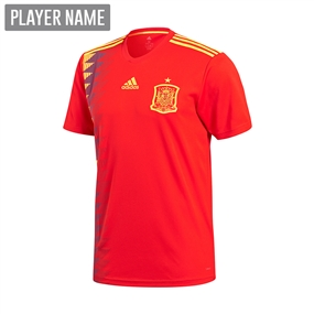 Adidas Youth Spain Home Jersey '18-'19 (Red/Bold Gold)