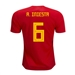 Adidas Youth Spain 'A. INIESTA 6' Home Jersey '18-'19 (Red/Bold Gold)