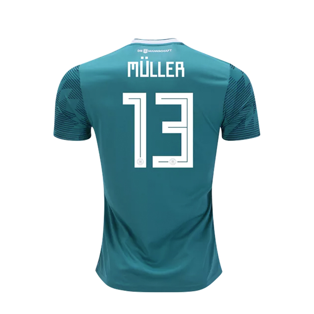 03f5bf15b Adidas Youth Germany  MULLER 13  Away Jersey  18- 19 (EQT Green ...