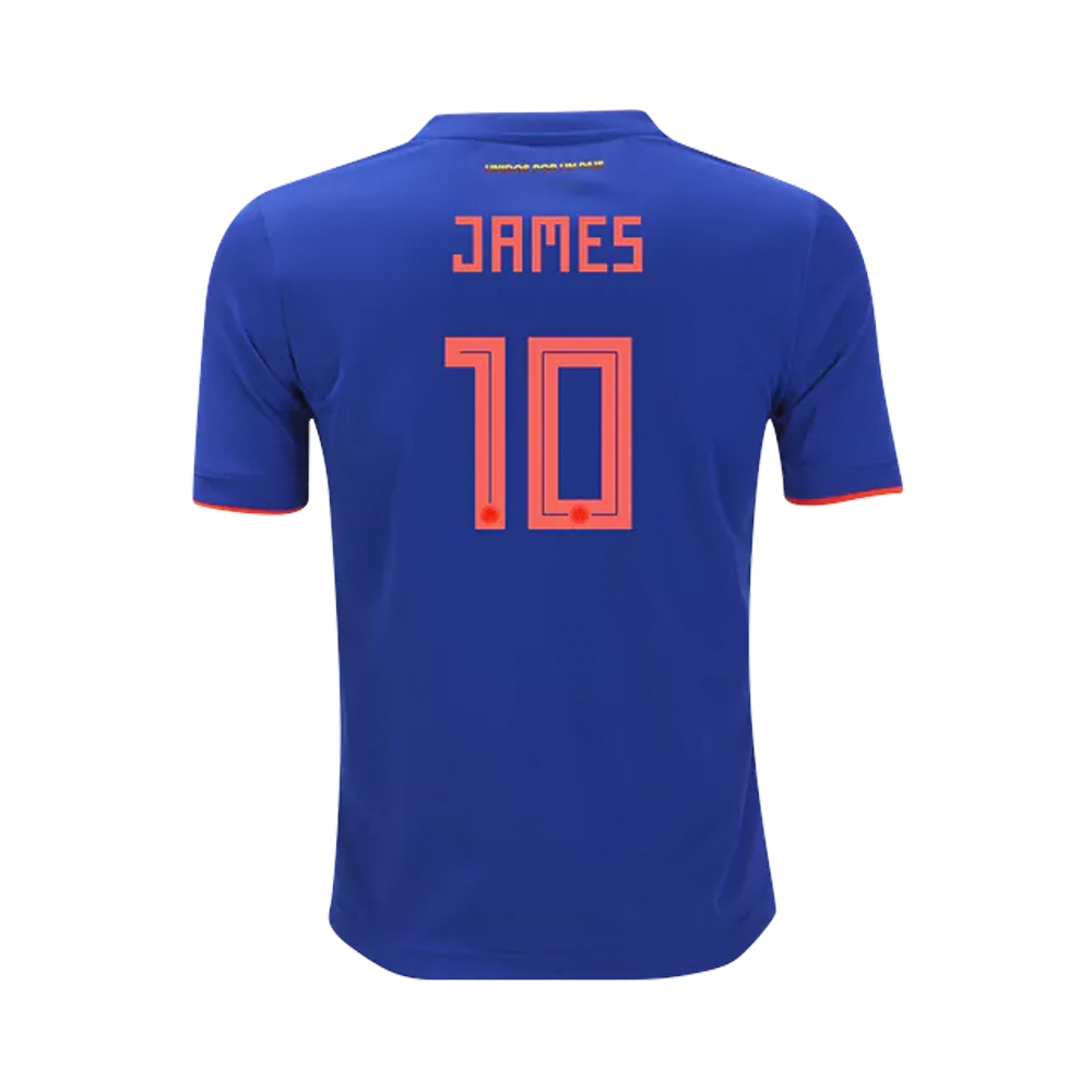 f5526c5a615 Adidas Youth Colombia  JAMES 10  Away Jersey  18- 19 (Bold Blue ...