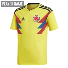 Adidas Youth Colombia Home Jersey '18-'19 (Bright Yellow/Collegiate Navy)