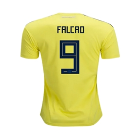 Adidas Youth Colombia 'FALCAO 9' Home Jersey '18-'19 (Bright Yellow/Collegiate Navy)