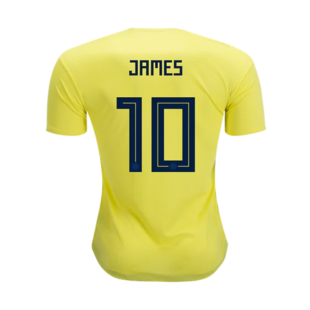 10c59b94e526d Adidas Youth Colombia 'JAMES 10' Home Jersey '18-'19 (Bright  Yellow/Collegiate Navy)