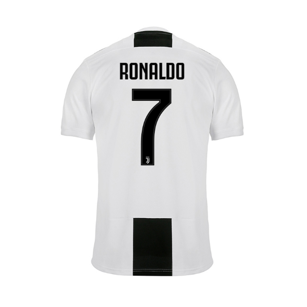 6f0f477a7 Adidas Youth Juventus  RONALDO 7  Home Jersey  18- 19 (Black White ...