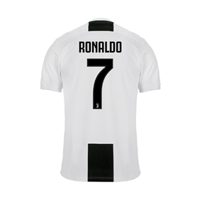 Adidas Youth Juventus 'RONALDO 7' Home Jersey '18-'19 (Black/White)