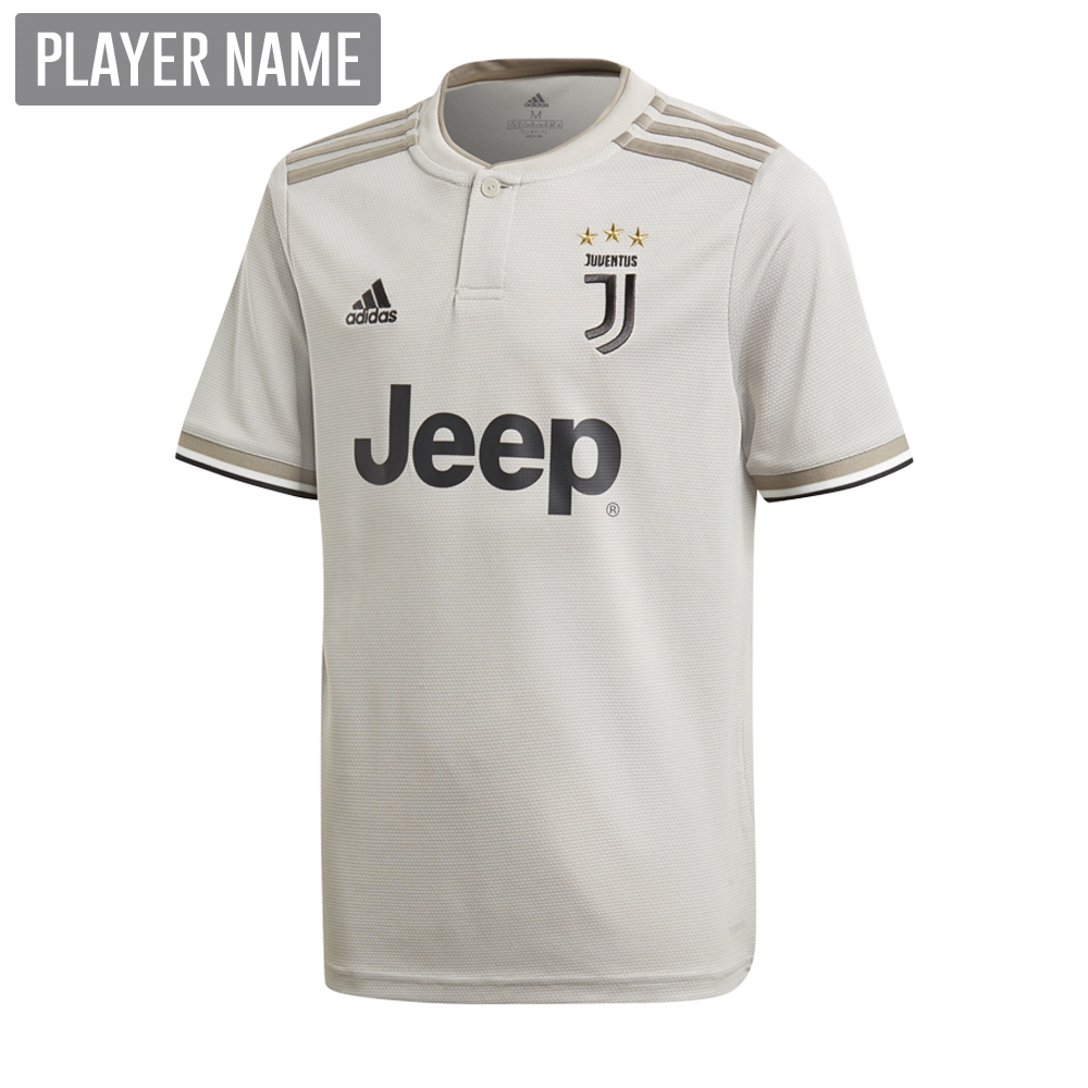 release date 27d9d 4e8d9 Adidas Youth Juventus Away Jersey '18-'19 (Sesame/Clay)