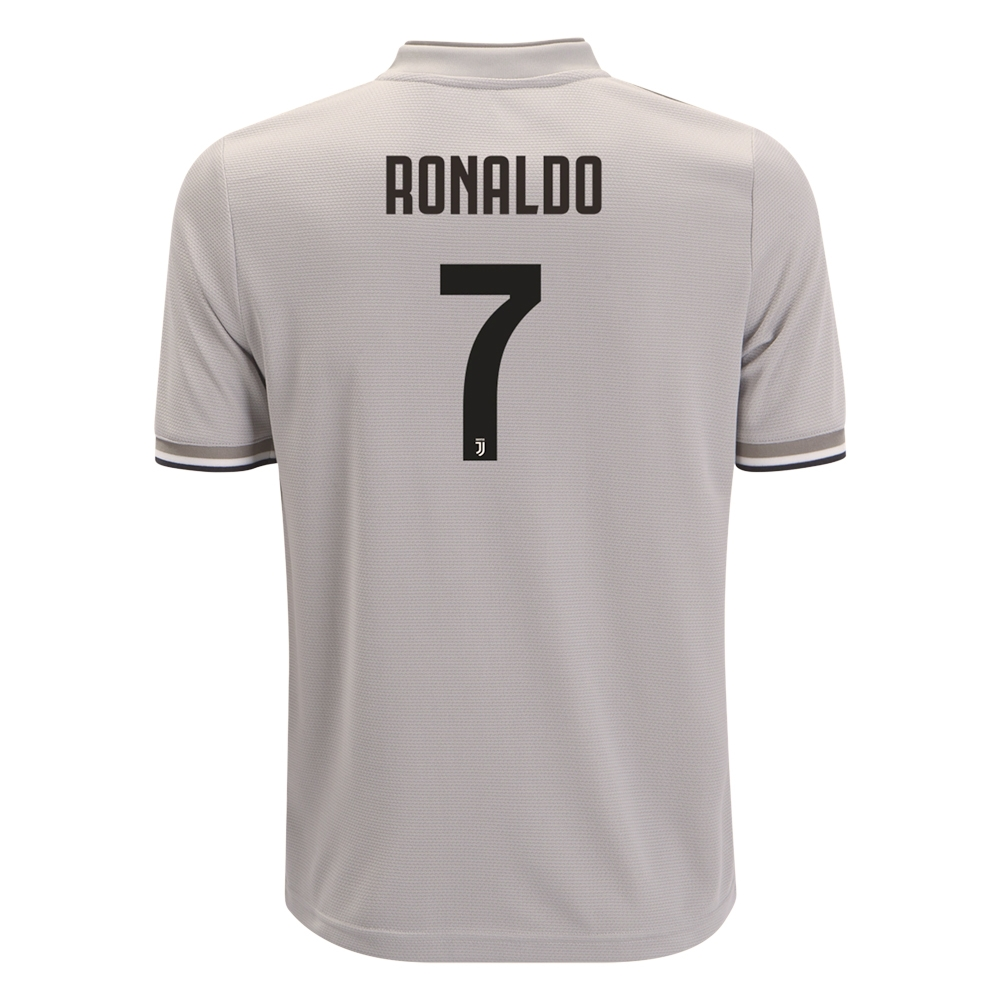 official photos fb261 4bb3b Adidas Youth 'RONALDO 7' Juventus Away Jersey '18-'19 (Sesame/Clay)