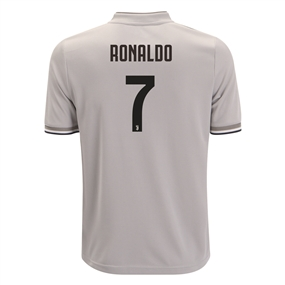 Adidas Youth 'RONALDO 7' Juventus Away Jersey '18-'19 (Sesame/Clay)