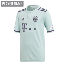 Adidas Youth Bayern Munich Away Jersey '18-'19 (Ash Green/Trace Purple/White)