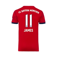 Adidas Youth Bayern Munich 'JAMES 11' Home Jersey '18-'19 (FCB True Red/Strong Red/White)