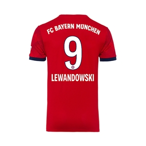 Adidas Youth Bayern Munich 'LEWANDOWSKI 9' Home Jersey '18-'19 (FCB True Red/Strong Red/White)