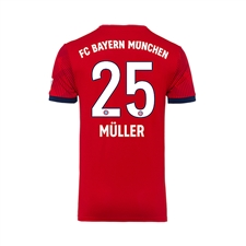 Adidas Youth Bayern Munich 'MULLER 25' Home Jersey '18-'19 (FCB True Red/Strong Red/White)