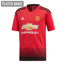 Adidas Youth Manchester United Home Jersey '18-'19 (Real Red/Black)