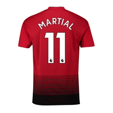 Adidas Youth Manchester United 'MARTIAL 11' Home Jersey '18-'19 (Real Red/Black)