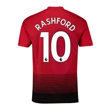 Adidas Youth Manchester United 'RASHFORD 10' Home Jersey '18-'19 (Real Red/Black)