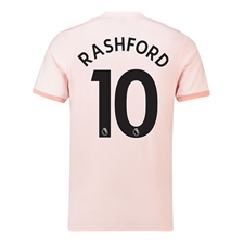 Adidas Youth Manchester United 'RASHFORD 10' Away Jersey '18-'19 (Icey Pink/Trace Pink/Black)