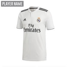 Adidas Youth Real Madrid Home Jersey '18-'19 (Core White/Black)