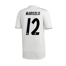 Adidas Youth Real Madrid 'MARCELO 12' Home Jersey '18-'19 (Core White/Black)
