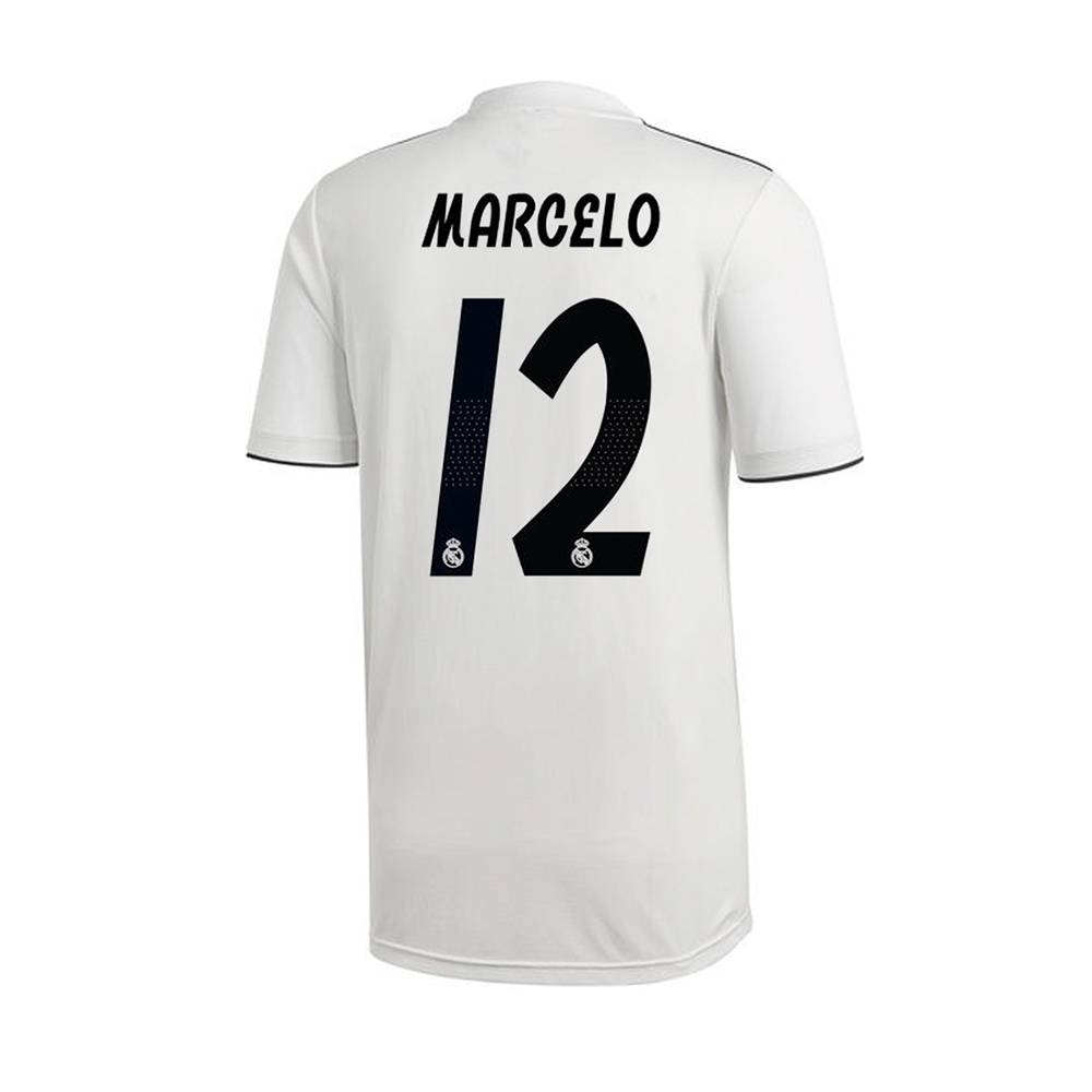 72997ef701080 Adidas Youth Real Madrid 'MARCELO 12' Home Jersey '18-'19 (Core ...