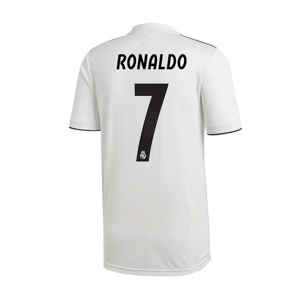 huge discount bfd21 ccf28 Adidas Youth Real Madrid 'RONALDO 7' Home Jersey '18-'19 (Core White/Black)