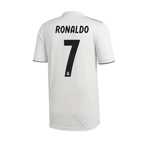Adidas Youth Real Madrid 'RONALDO 7' Home Jersey '18-'19 (Core White/Black)