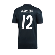 Adidas Youth Real Madrid 'MARCELO 12' Away Jersey '18-'19 (Tech Onix/Bold Onix/White)