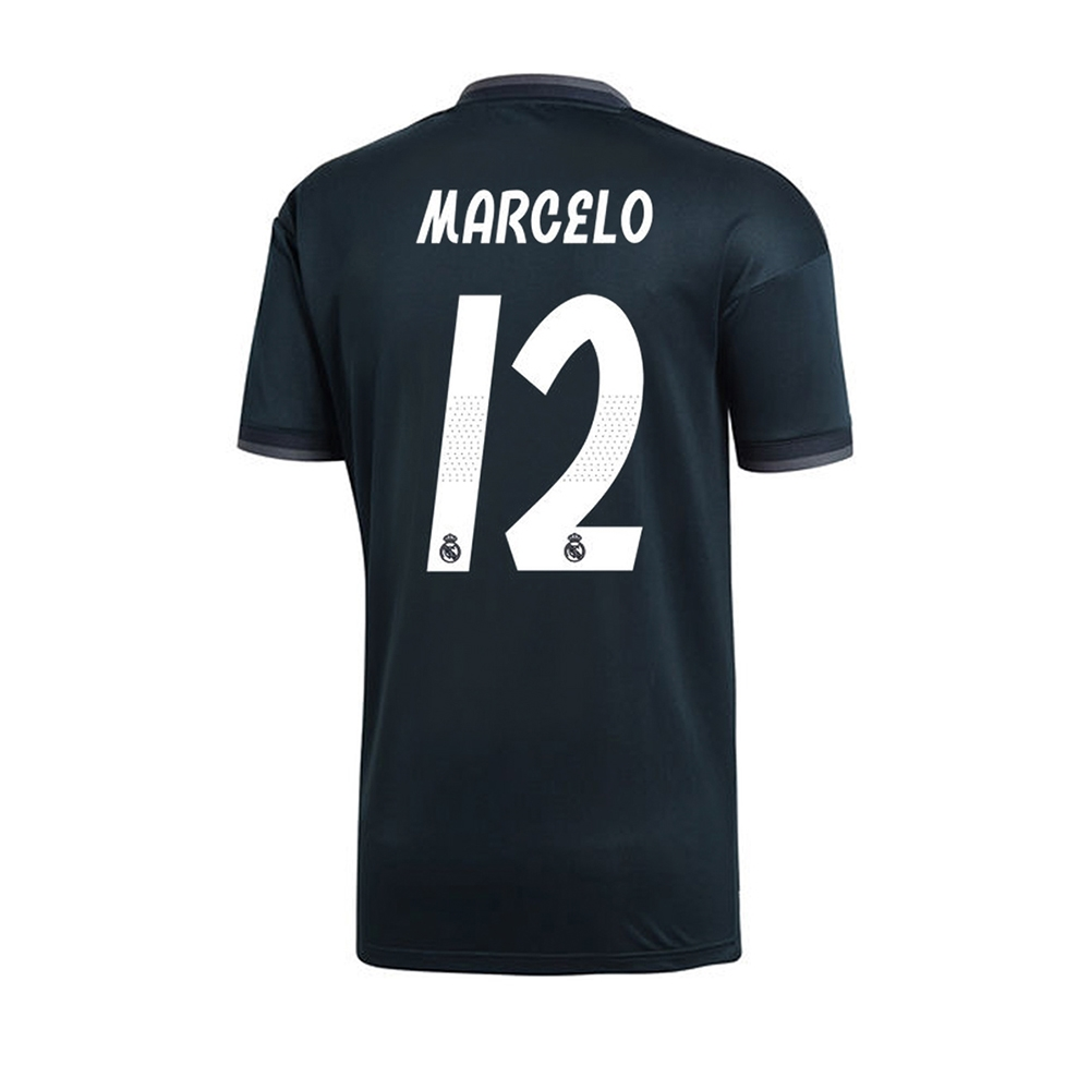 f71c6f6a8 Adidas Youth Real Madrid  MARCELO 12  Away Jersey  18- 19 (Tech Onix ...