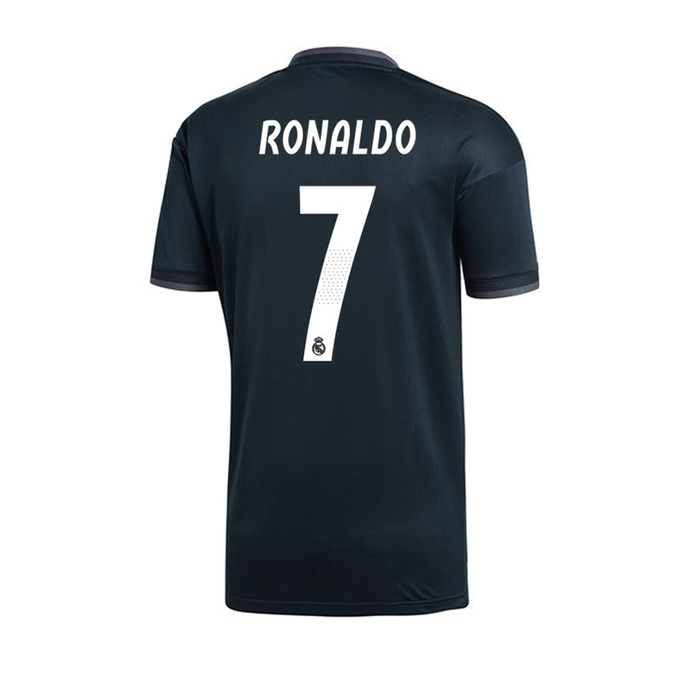 on sale 2eead 7880e Adidas Youth Real Madrid 'RONALDO 7' Away Jersey '18-'19 (Tech Onix/Bold  Onix/White)