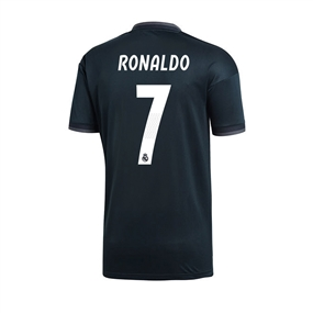 Adidas Youth Real Madrid 'RONALDO 7' Away Jersey '18-'19 (Tech Onix/Bold Onix/White)