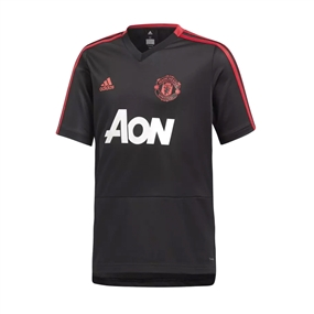 Adidas Youth Manchester United Training Jersey (Black/Blaze Red/Core Pink)
