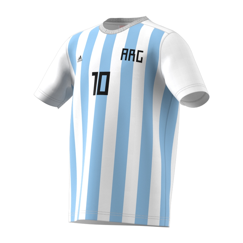 finest selection 7a41d 097e3 Adidas Youth 2018 FIFA World Cup Argentina Messi 10 T-Shirt (White)