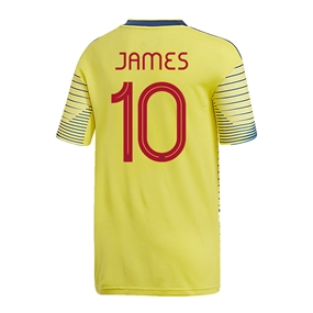 Adidas Youth Colombia 'JAMES 10' Home Jersey 2019 (Light Yellow/Night Marine)