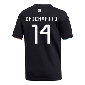 Adidas Youth Mexico 'CHICHARITO 14' Home Jersey 2019 (Black/White)