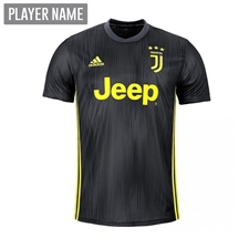 Adidas Youth Juventus Third Jersey '18-'19 (Carbon/Shock Yellow)